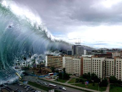 Big Wave Crashes On To The Shore. Indian Ocean Stock Photo ...